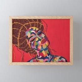 Pop Art woman face colors Fauve Lady 4 rock Framed Mini Art Print