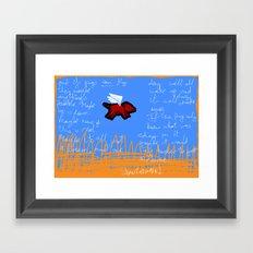 fly, little pig Framed Art Print