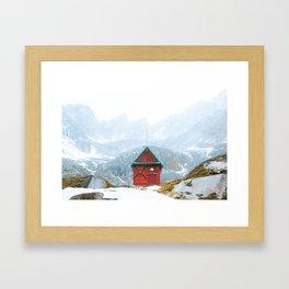 Alaskan Hut Framed Art Print