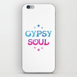 Gypsy Soul Mystical Stars Ombre Tie Dye Blue Pink iPhone Skin