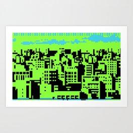 cityscape 07A (C64 remix) (2011) Art Print