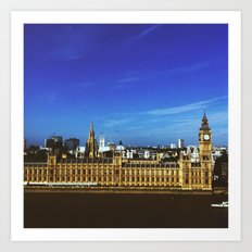 Big Ben in the sun Art Print