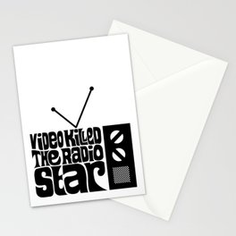 Video Killed The Radio Star Stationery Cards