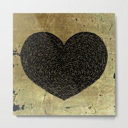 Valentine's Day Dark Heart Metal Print