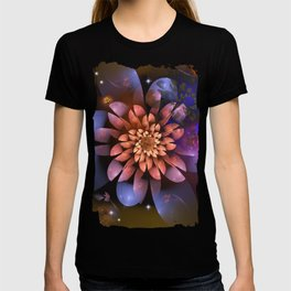 Cosmic flowers in universe T-shirt