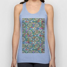 Gilded Moroccan Mosaic Tiles Unisex Tank Top