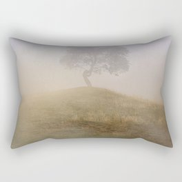 Loneliness at foggy dawn Rectangular Pillow