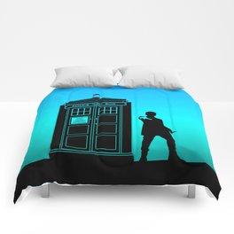 Tardis With The Twelfth Doctor Comforters