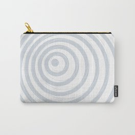 orbits - circle pattern in ice gray and white Carry-All Pouch
