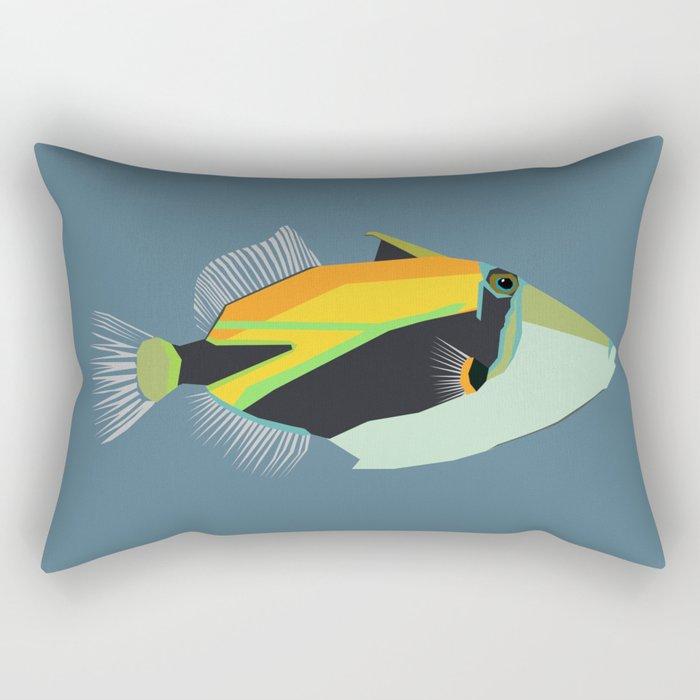 humuhumunukunukuapua'a reef trigger fish Rectangular Pillow