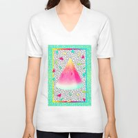 watermelon V-neck T-shirts featuring Watermelon by Danny Ivan