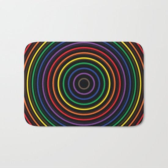Colorful circle Bath Mat