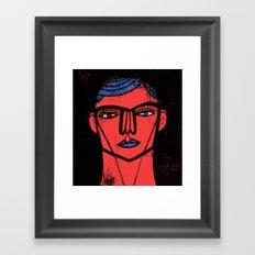 Red Blue Black Framed Art Print