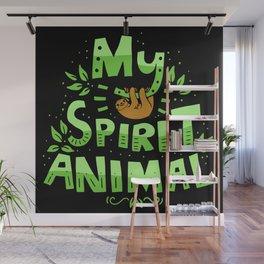 My Spirit Animal | Sloth Lazy Wall Mural