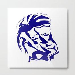 face6 blue Metal Print