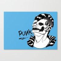 punk rock Canvas Prints featuring PUNK by Callum Longworth