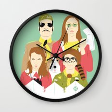Time For Love And Adventure (Faces & Movies) Wall Clock