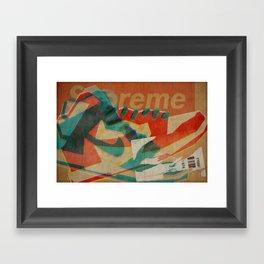 Nike Dunk Hi Pro SB Supreme | Highsnobiety Framed Art Print