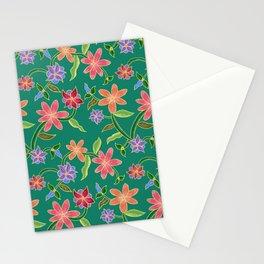 Emerald Batik Stationery Cards