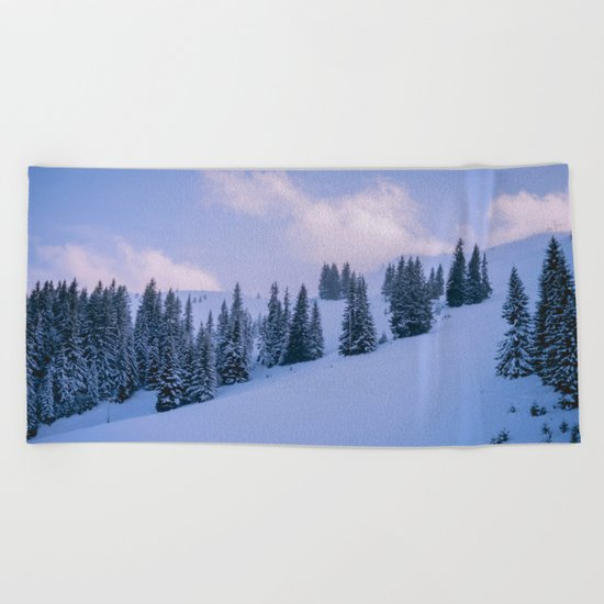 The Winter Woods Beach Towel