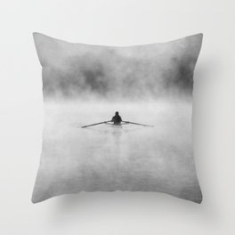 Rowing On The Chattahoochee Throw Pillow