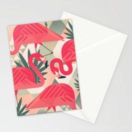 Retro Flamingo Patter Stationery Cards