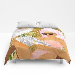 Vacay News #illustration #painting Comforters