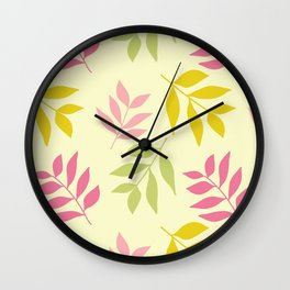 Hummingbird Hallow Collection - Blowing colourful Leaves  Wall Clock