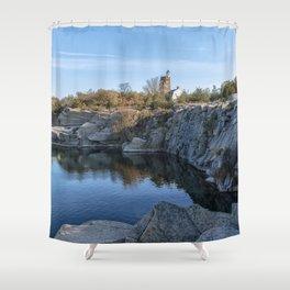 Autumn Quarry Landscape Shower Curtain