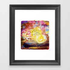 Vegan Eggyolk behind a Tree Framed Art Print