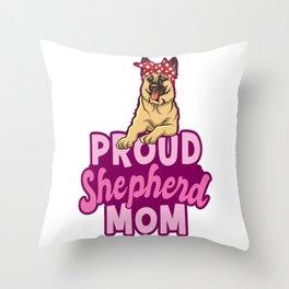 Shepherd Mom Throw Pillow