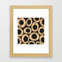Large Circles (Black) Framed Art Print