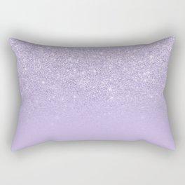 Stylish purple lavender glitter ombre color block Rectangular Pillow