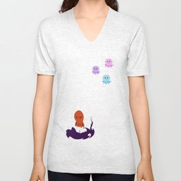 Octopus Mood Unisex V-Neck