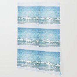 Beach Ocean Photography Art, Blue Coastal Photo, Aqua Seascape Photograph, Waves Art Wallpaper