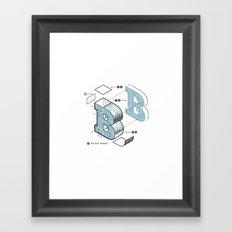 The Exploded Alphabet / B Framed Art Print