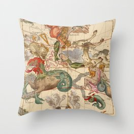Star Atlas Vintage Constellation Map Ignace Gaston Pardies Throw Pillow