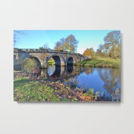 Chatsworth Bridge Metal Print