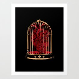 A Heart in a Cage Art Print