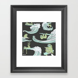 Surfin' Sloths  Framed Art Print