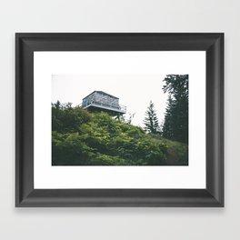 Oregon Fire Lookout Framed Art Print