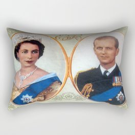 Queen Elizabeth 11 & Prince Philip in 1952 Rectangular Pillow