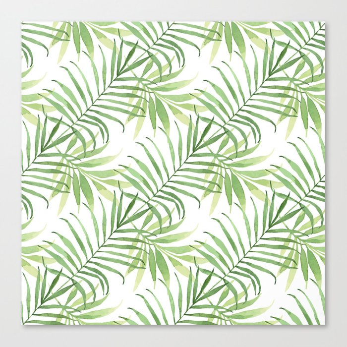 Tropical Branches Pattern 05 Canvas Print
