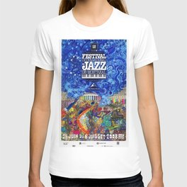 2008 Montreal Jazz Festival Advertising Gig Poster T-shirt