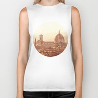 florence Biker Tanks featuring Florence Cathedral by happeemonkee