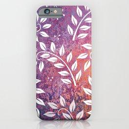 Beautiful Leaf Pattern iPhone Case