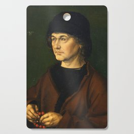 Albrecht Dürer the Elder with a Rosary by Albrecht Dürer Cutting Board