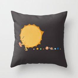 Poo Poo Sun Throw Pillow