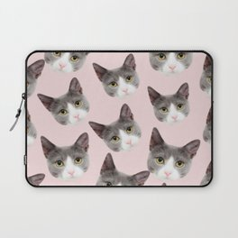 girly cute pink pattern snowshoe cat Laptop Sleeve