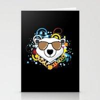 hip hop Stationery Cards featuring Hip-Hop Polar Bear by &joy